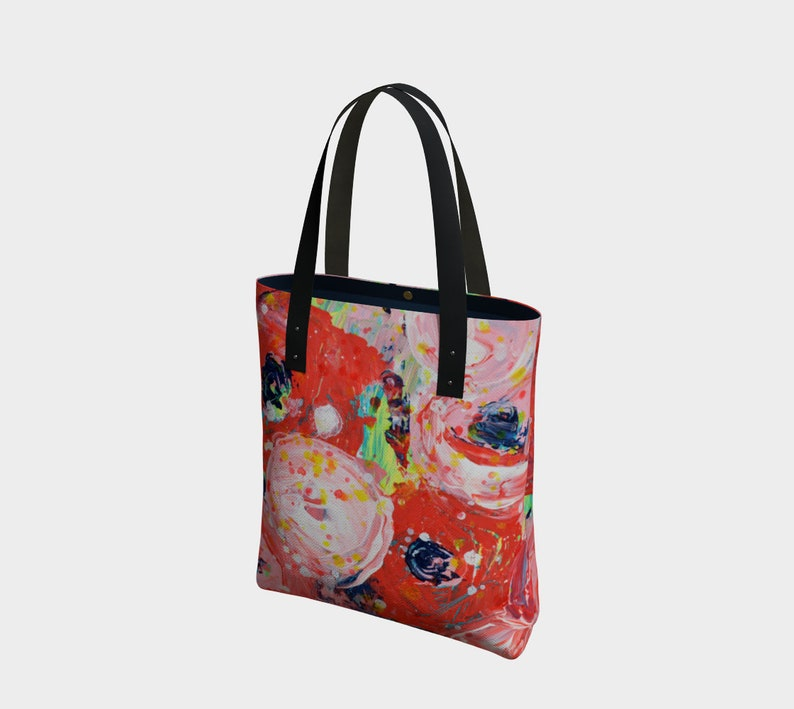 Pretty tote bag with floral design image 0