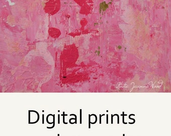 Pink Abstract Painting Print. Digital Print for Bedroom Wall Art Print. Pink Feminine Gift for Her Living Room Wall Decor. No 70