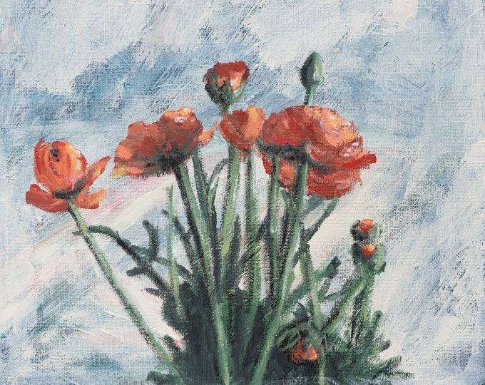 Original flower painting on canvas | Love alone is worth the fight
