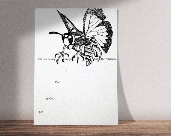 The Predatory Wasp of the Palisades Is Out to Get Us!  | Sufjan Stevens Illinois Illustration | Available as Art Print or Download