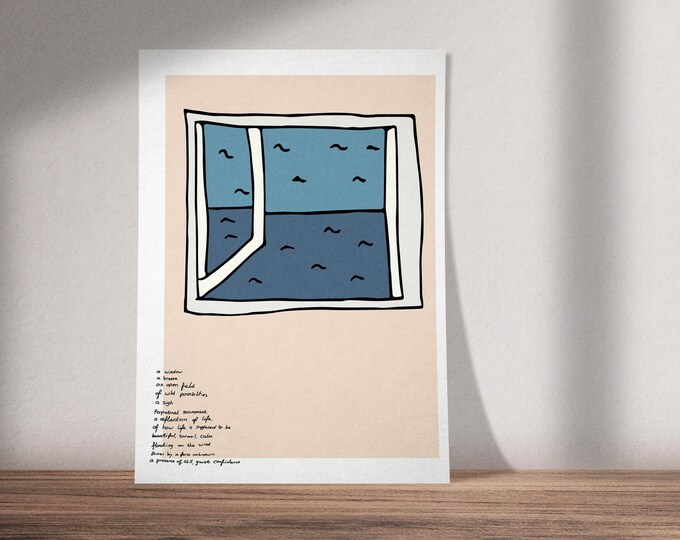 A Window | Buy One & Give One Away Free | Illustration Inspired by Wendell Berry's Jayber Crow | Available as Art Print or Download