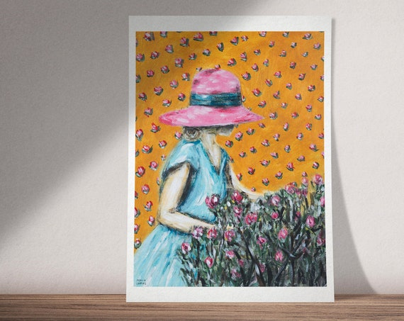 Flower Dream II | Inspired by Emily Dickinson Poem | Available as Original Painting, Art Print or Download