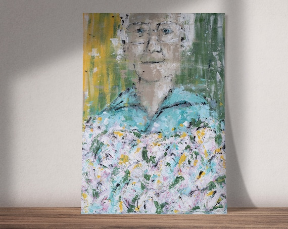 I Count My Blessings | Buy One & Give One Away Free | Portrait of Woman | Available as Original Painting, Art Print or Download