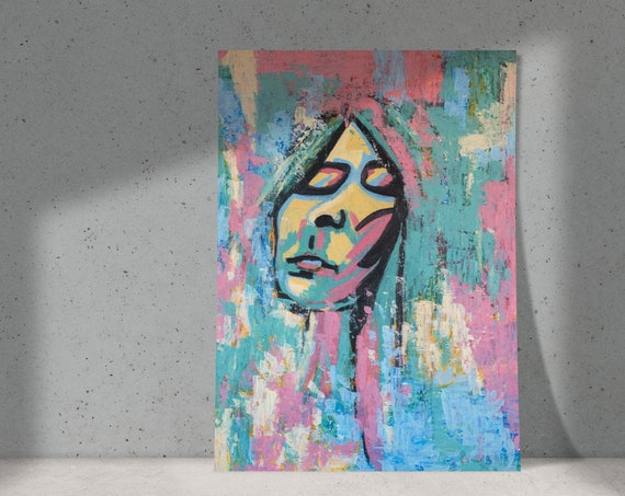 I Was Everywhere | Buy One & Give One Away Free | Abstract Portrait of Woman Dreaming | Original Painting, Art Print or Download