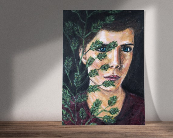 Wondering Through Your Eyes | Portrait of Woman | Available as Original Painting, Print or Download