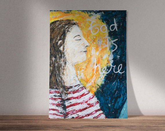 God is Here | Isaiah 30:15 | Available as Original Painting, Print or Download