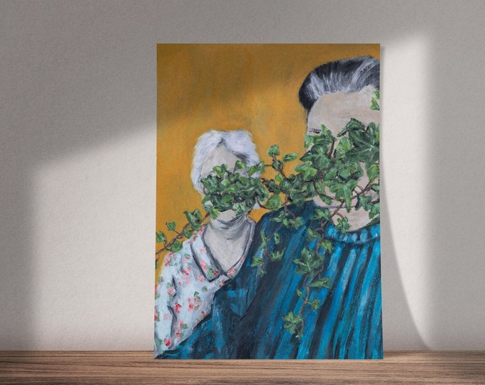 Hide and Seek, Darling | Buy One & Give One Away Free | Art on Growing Old Together | Available as Original Painting, Print or Download