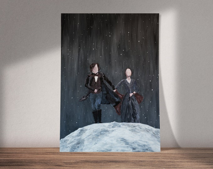 Art on Jane Eyre | To The Moon | Buy One & Give One Away Free | Available as Original Painting, Print or Download |