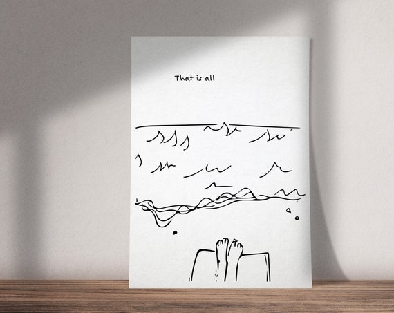 That Is All | Virginia Woolf Inspired Beach Illustration | Mrs. Dalloway Book | Available as Art Print or Download