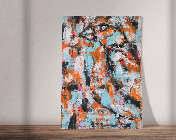 Wiser Than We Know | Buy One & Give One Away Free | Abstract Bird Painting | Available as Original Painting, Art Print or Download