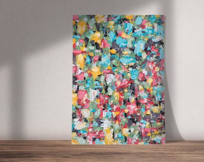 Ode to Flowers and Their Colors | Buy One & Give One Away Free | Abstract Floral Art | Original Painting, Print or Download