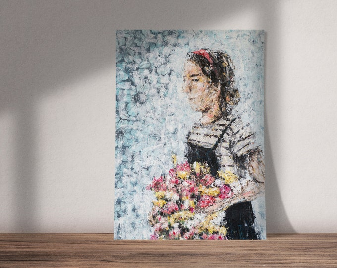 Flower Dream | Buy One & Give One Away Free | Gift Idea | Available as Original Painting, Art Print or Download