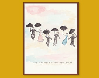 Printable Art | To Fly | You Jump I Jump Jack | Gilmore Girls | A3 Instant Download PDF