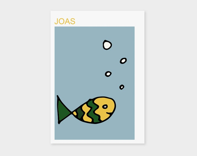"Birth Announcement Card ""Fish"" 