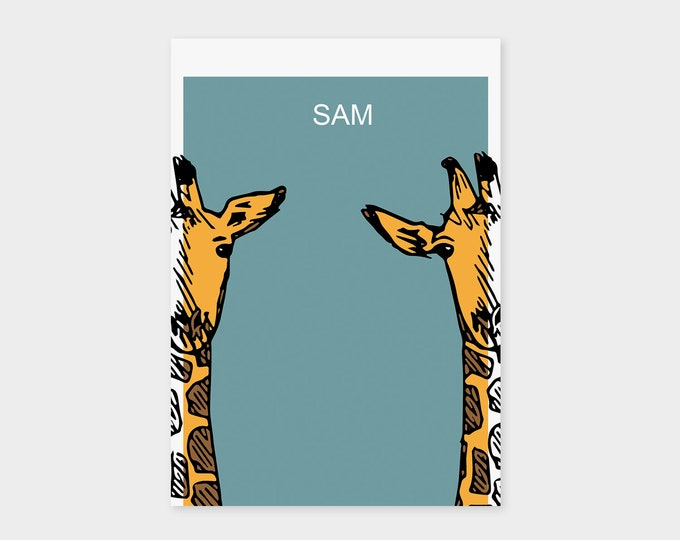 "Birth Announcement Card ""Giraffe"" 