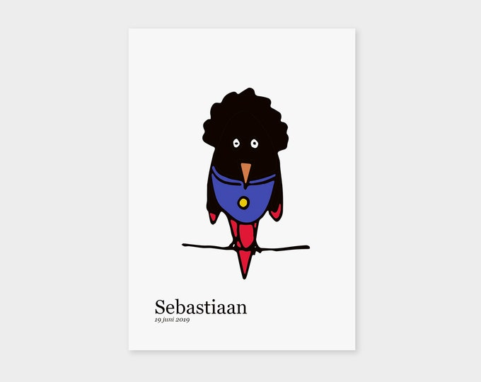 "Print ready birth announcement card ""Superbird"" 