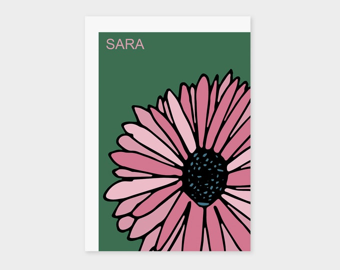 "Birth Announcement Card ""Flower"" 
