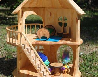 Dollhouse - Handmade wooden DollHouse - doll house - dollhouses - wood dollhouse