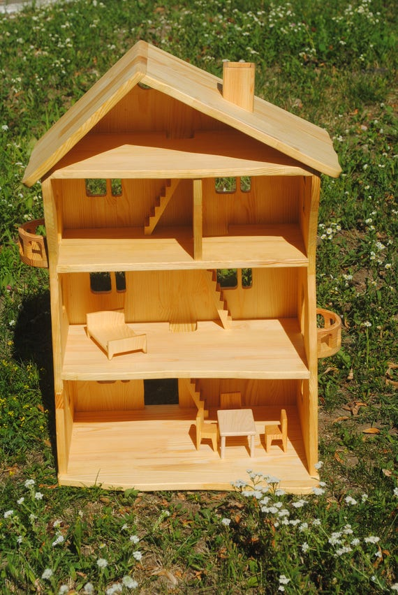 Miniature Wooden Bird Feeder Filled with Seed DOLLHOUSE Miniatures 1:12 Scale