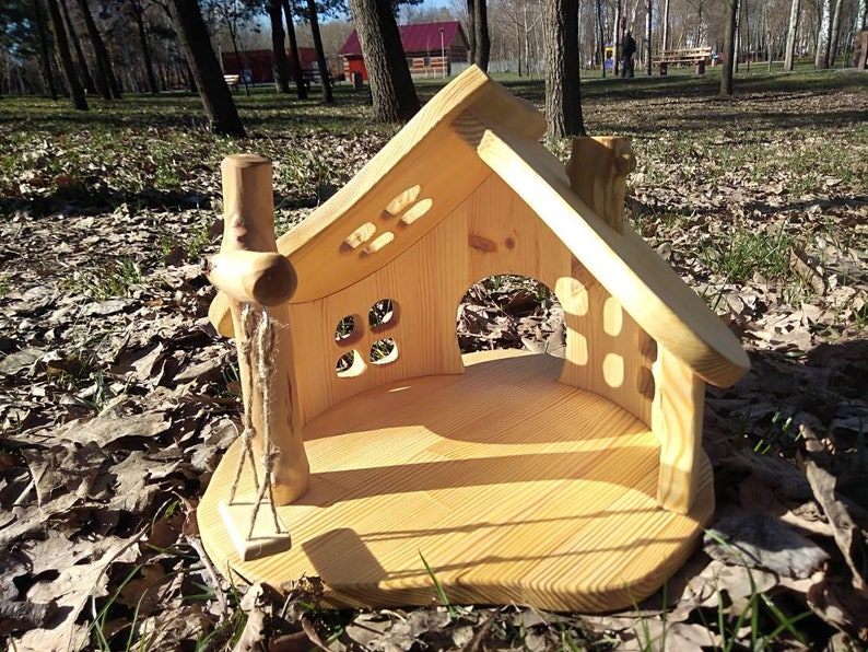 Wood dollhouse  Wooden dollhouse  Dollhouse Fairy dollhouse Gnome dollhouse Dollhouses Doshouse kit Wood doll house Wooden doll house