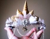 Mermaid crown, crystal crown, quartz crystal crown, crystal tiara, bridal tiara, boho headpiece