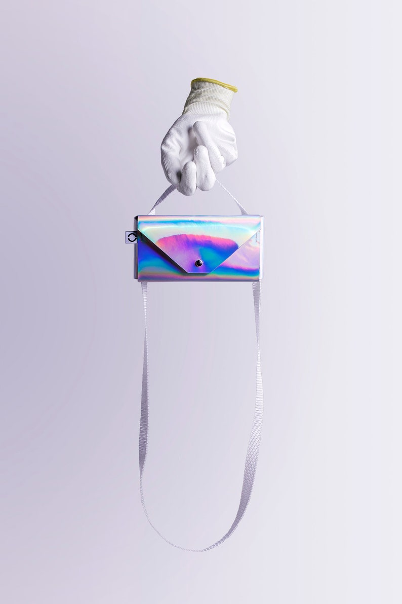 Samsung Galaxy silver holographic phone case with straps HTC for iPhone Sony Xperia