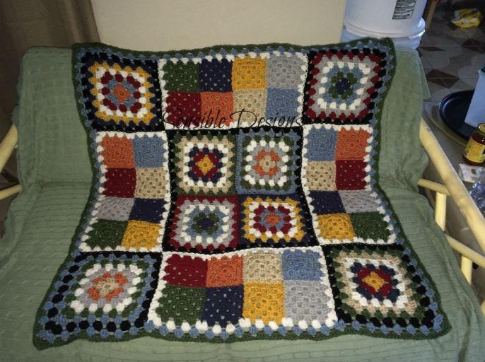 Crochet Pattern Stained Glass Window Afghan Windowpane Etsy