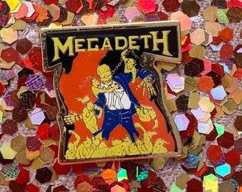 MEGADETH pin / vintage pin enamel pin hat tac pinback button jacket pin gift present lapel pin gifts for him rock pin band pin 80s pin