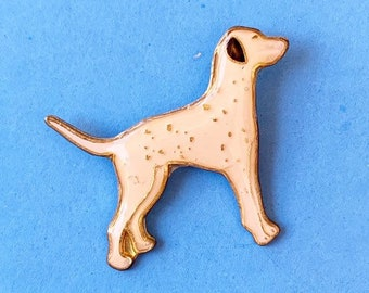 Dalmatian Dog Metal Collectors Enamel Pin Badge Brooch 30mm NEW