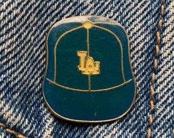 c7956fb43 LA DODGERS PIN / vintage baseball hat pin 70s 80s hat tac tie tac pinback  button jacket pin enamel pin lapel pin gift present sports pin