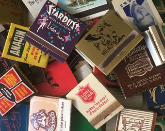 LOT of 100 MATCHBOOKS from the 40s to 90s / vintage matches matchbook hotels casinos bar las vegas matchcovers match covers cover book books