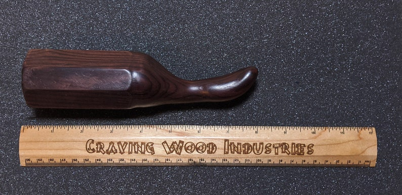 Curved Dildo  Freestanding Sex Toy Handmade From Cocobolo image 0