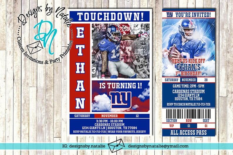 Wholesale New York Giants Football Invitation | Etsy  hot sale