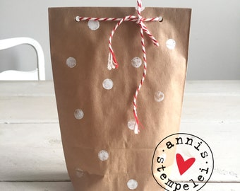 5 gift bags to the filling itself, dots