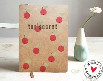 Apple recipe book, lined, DIN A5