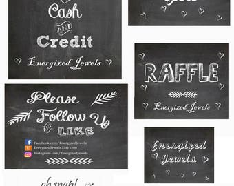printable chalkboard sign please follow us sign business etsy