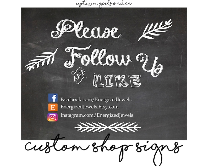 photograph regarding Printable Chalkboard Signs named Printable Chalkboard Indicator, You should Stick to Us Indication, Organization Indications, Craft Clearly show Signs or symptoms, Supplier Occasion Indicators, Personalized Small business Signs and symptoms