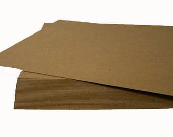 12x12 inch Chipboard Sheets, Natural Chipboard Sheets, Large Shipping Pads, ScrapBooking Backing, Large Display Board, Brown Display Board