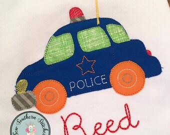 Raggedy woody station wagon car applique christmas tree on etsy