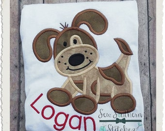 Sweet Patches Puppy Applique Design - Instant Download