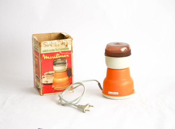 Moulinex Vintage Coffee Grinder Giallo Teseted e funzionante Con scatola originale