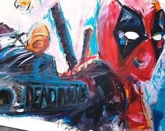 Deadpool, Art Print, Superhero, comic book, poster, comics, art by Cole Brenner, gift for geeks, nerd art, Deadpool 2 movie