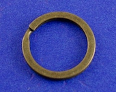 10 pcs- 25mm Bronze Split Ring, 25 mm, 12 Gauge, Antiqued Brass Key Ring, 1 inch Brass Split Ring- AB-B26893-8S