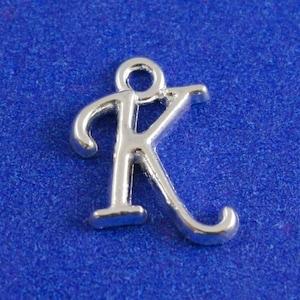 Gold Alphabet Initial Charm Monogram F Letter F 1 or 4pcs- F Script Initial