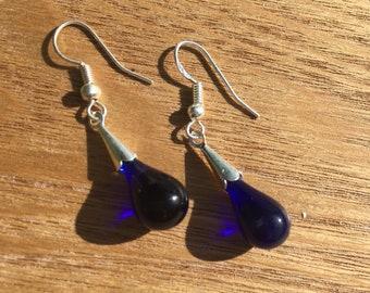 Handmade Glass droplet earrings