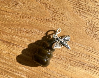 Handmade glass bee hive pendant