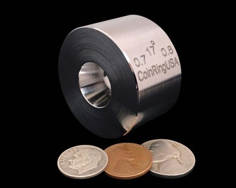"""SALE! 0.7"""" x 0.8"""" UNIVERSAL Folding and Reduction Die made of Hardened Stainless Steel @ 17-Degree Tapers for the Smallest Coin Rings"""