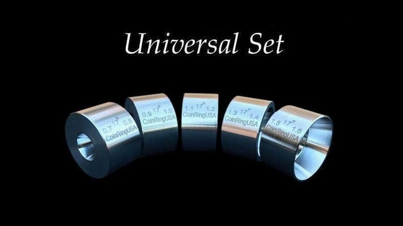 FIVE UNIVERSAL Reduction/Folding Dies of Hardened Stainless image 0