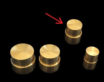"""MEDIUM Direct Replacement Brass Pushrod Plunger for Extruding """"Swedish-Wrapped"""" Coin Rings"""
