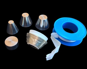 """The ORIGINAL Folding Cone SET with Spacer for all 1/4"""" inch - 5/8""""+ inch holes in Coin Rings, Stainless Steel"""